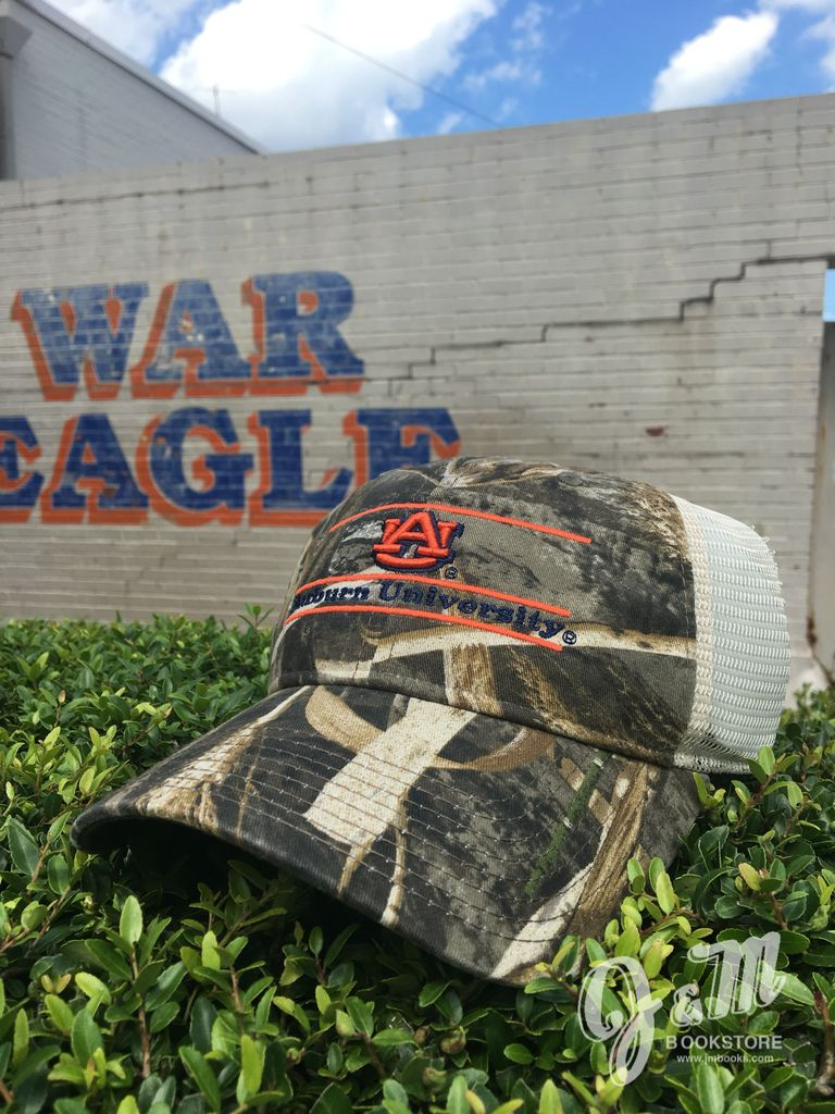 The Game AU Three Bar Auburn University Camo Mesh Hat
