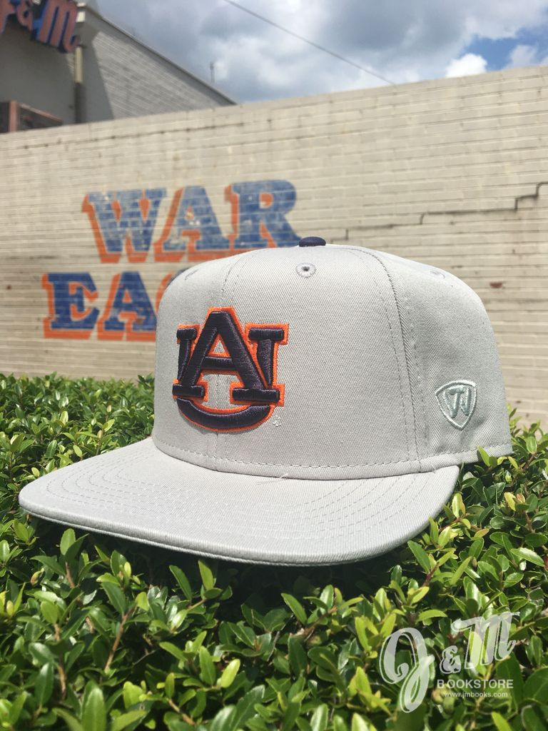 Classic AU on Grey Snapback Flatbill Hat