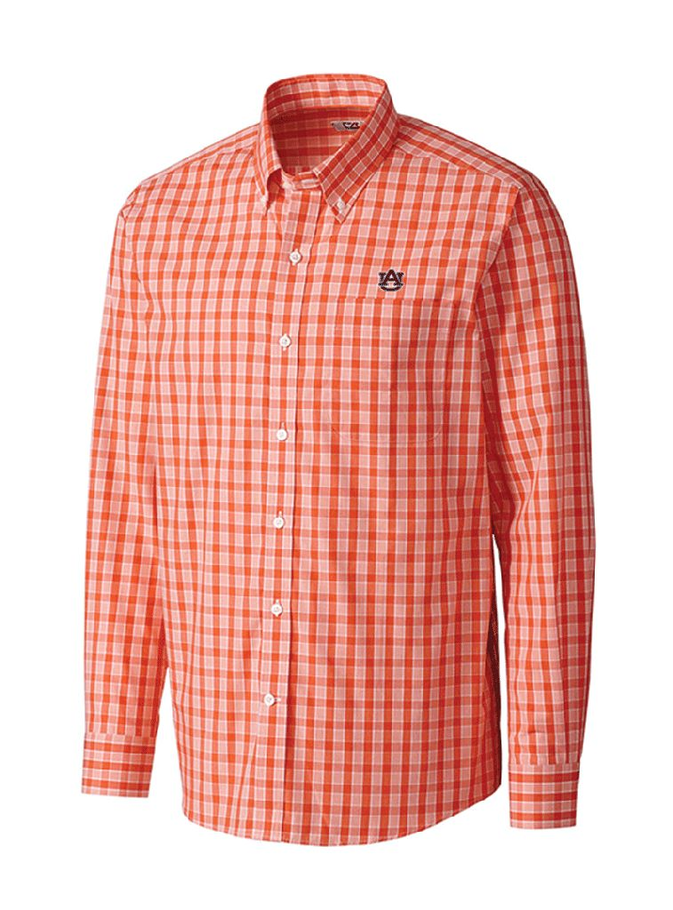 Cutter & Buck Discovery Park Plaid Long Sleeve Button Down