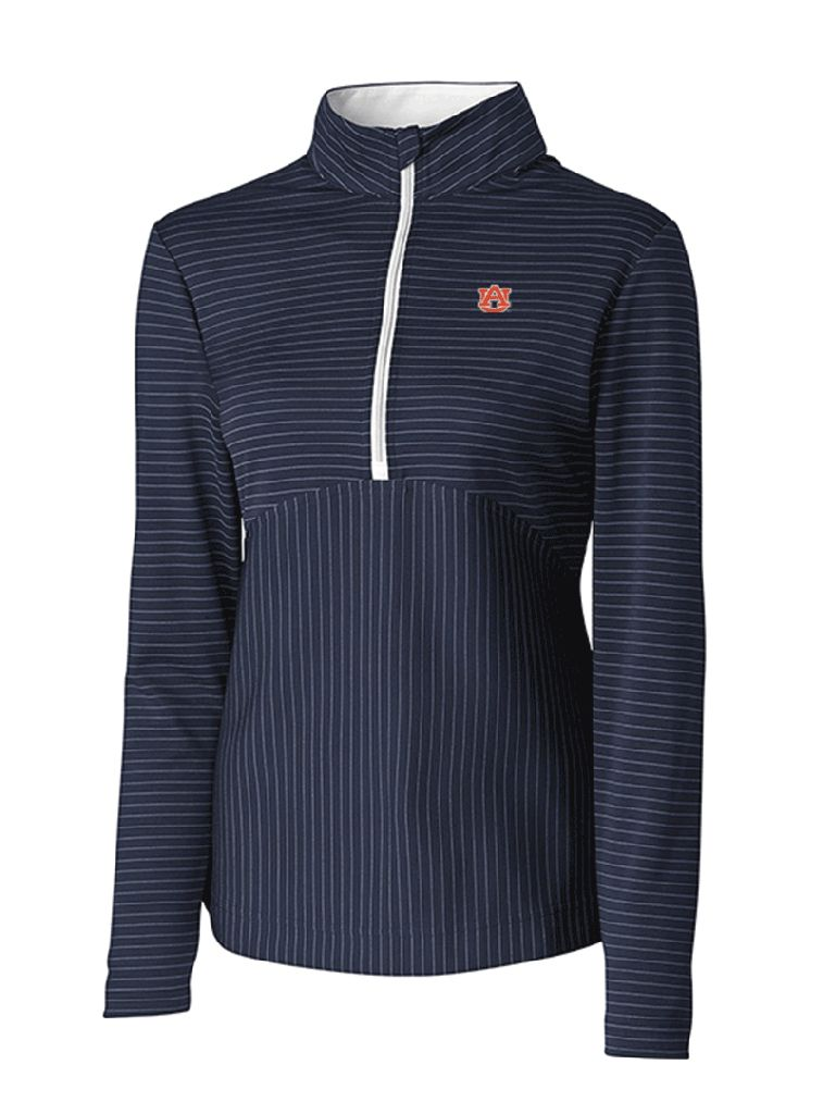Cutter & Buck AU Focus Stripe Half Zip Pullover
