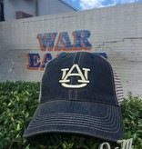 AU Youth Navy Hat with Tea Stain Mesh