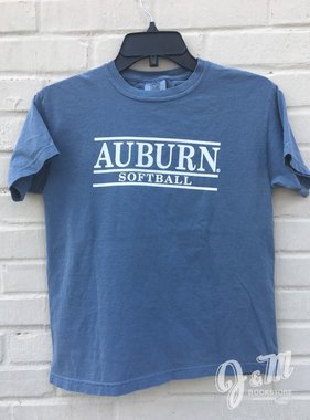 MV Sport Auburn Three Bar Softball Youth T-Shirt