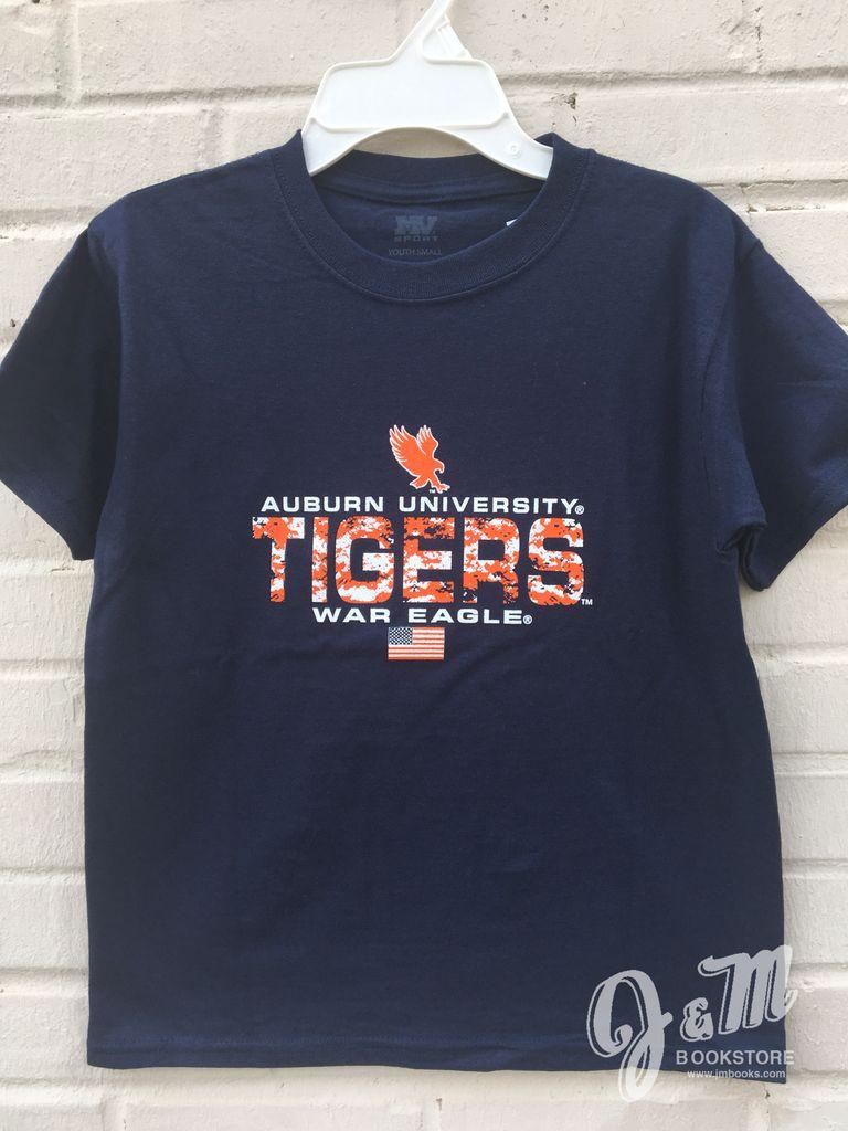 MV Sport Eagle Auburn University Digital Camo Tigers T-Shirt