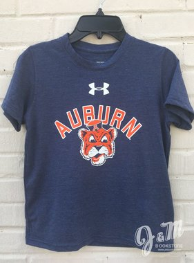 Under Armour Arch Auburn Vintage Aubie Head Youth T-Shirt