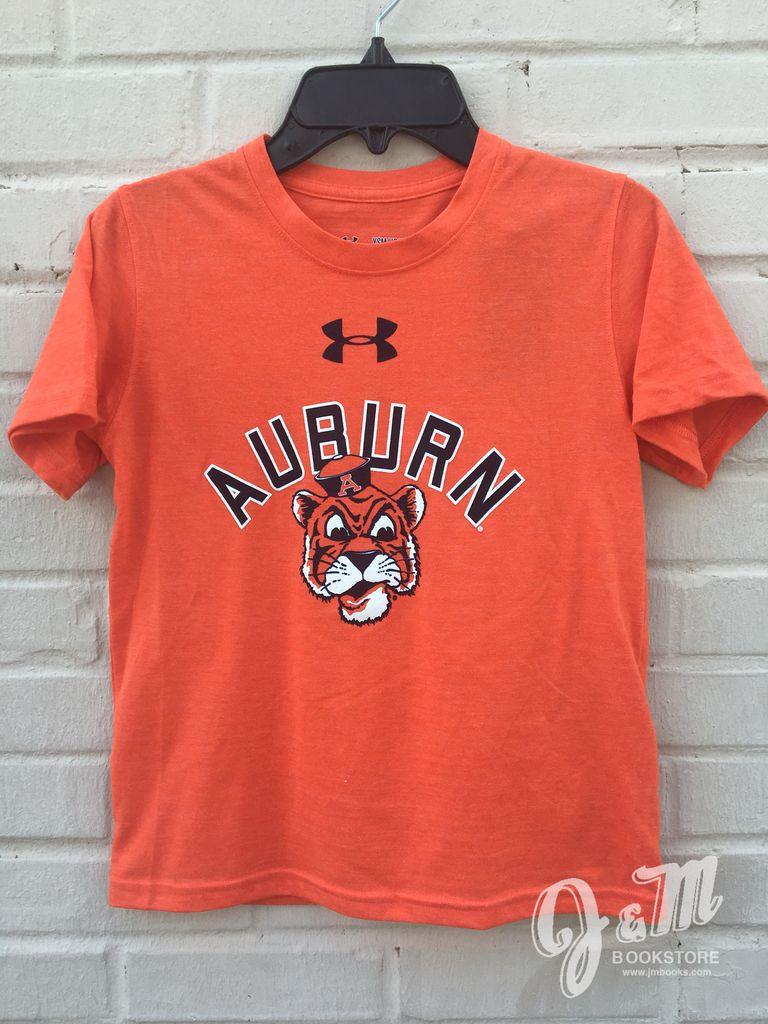 Under Armour Arch Auburn Vintage Aubie Head Youth T-Shirt