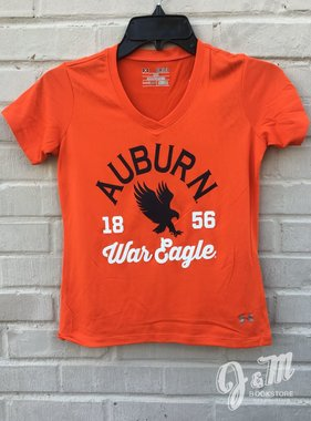 Under Armour Auburn 1856 War Eagle V-neck Girls T-Shirt