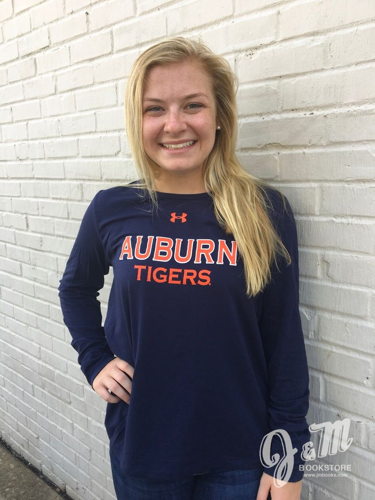Under Armour Auburn Tigers Ladies Charged Cotton Long Sleeve T-Shirt