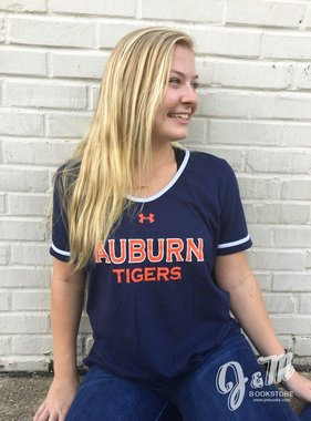 Under Armour Auburn Tigers Ladies Charged Cotton T-Shirt