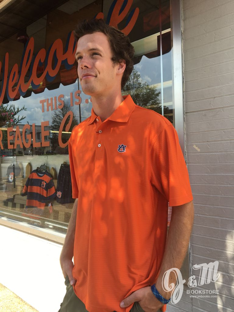 Divots AU Orange Polo with Orange Stripe