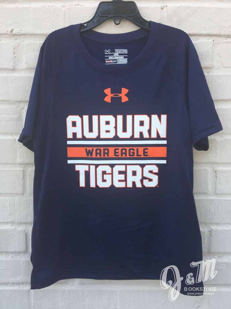 Under Armour Auburn War Eagle Tigers Stripe Youth T-Shirt