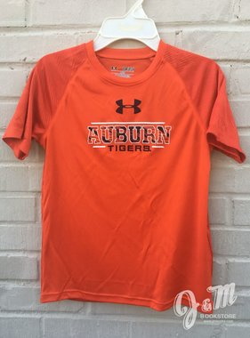 Under Armour Tigerstripe in Block Auburn Tigers Youth T-Shirt