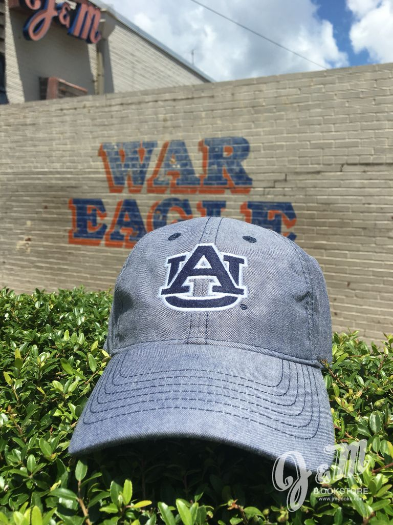 Navy AU with White Outline on Oxford Hat