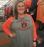 Under Armour Auburn AU Tigers Two Tone Baseball T-Shirt