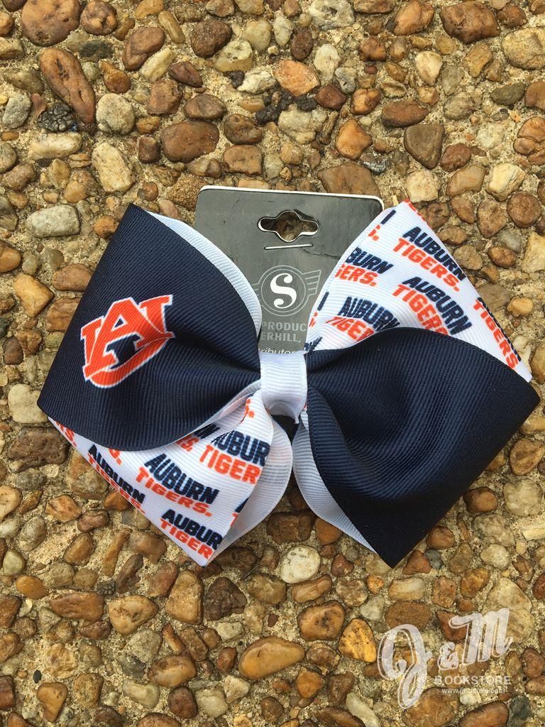 Auburn Tigers Cheer Ribbon Small Barrette