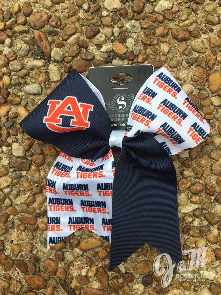 Auburn Tigers Cheer Ribbon Large Barrette