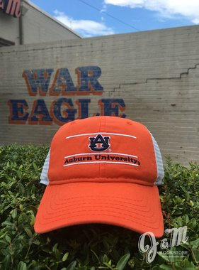 The Game AU Auburn University Youth Bar Mesh Hat Orange/White