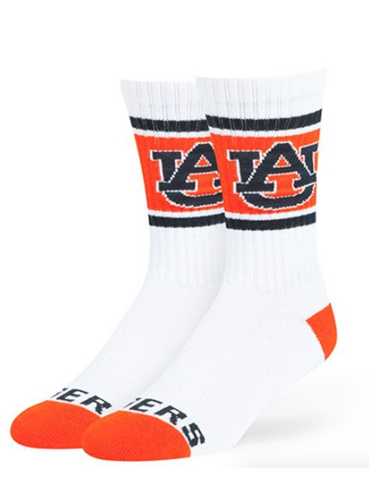 47 Brand AU 3-Tone Crew Socks, White, Large