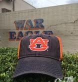 The Game Orange AU white outline 2 Tone Mesh Hat, Navy/Orange Mesh