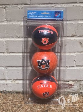 AU Three Point Shot Softee 3 Basketball Set