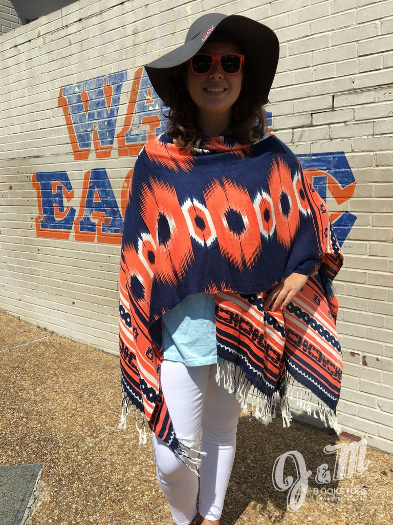 Auburn Orange and Navy Wrap