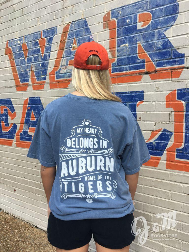 My Heart Belongs in Auburn Short Sleeve T-Shirt