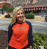 Under Armour Script Auburn University 1856 War Eagle 2 Tone Ladies Baseball T-Shirt