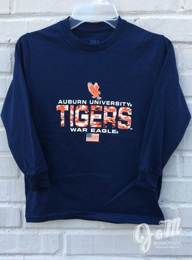 MV Sport Eagle Auburn University Digital Camo Youth Tigers Long Sleeve T-Shirt
