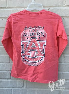 MV Sport Southern Girl Pride 1856 Auburn AU Youth Long Sleeve T-Shirt