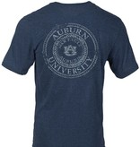 Russell Left Chest Arch Auburn Arch Tigers Vintage Print T-Shirt