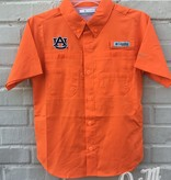 AU Youth Short Sleeve Button Down