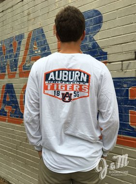 Russell Vintage Print Auburn Tigers 1856 Long Sleeve T-Shirt