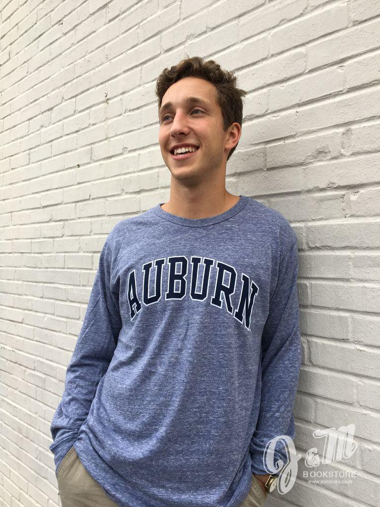 League Arch Auburn Tri-Blend Long Sleeve T-Shirt