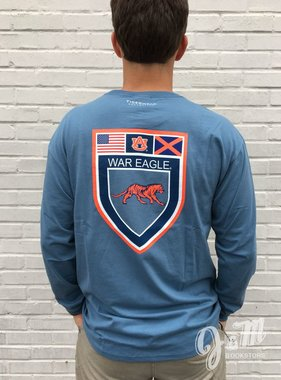Tigerwear AU US Flag State Flag Shield Long Sleeve T-Shirt
