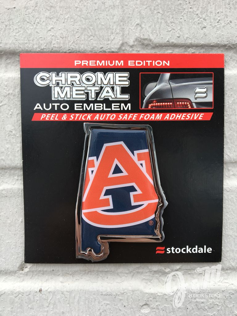 AU AL State Shape Auto Emblem