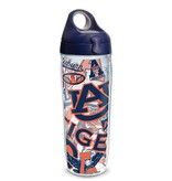 Tervis Tervis Vault Logos 24 oz Water Bottle with Navy Lid