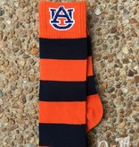 Donegal Bay AU Orange and Navy Striped Sock