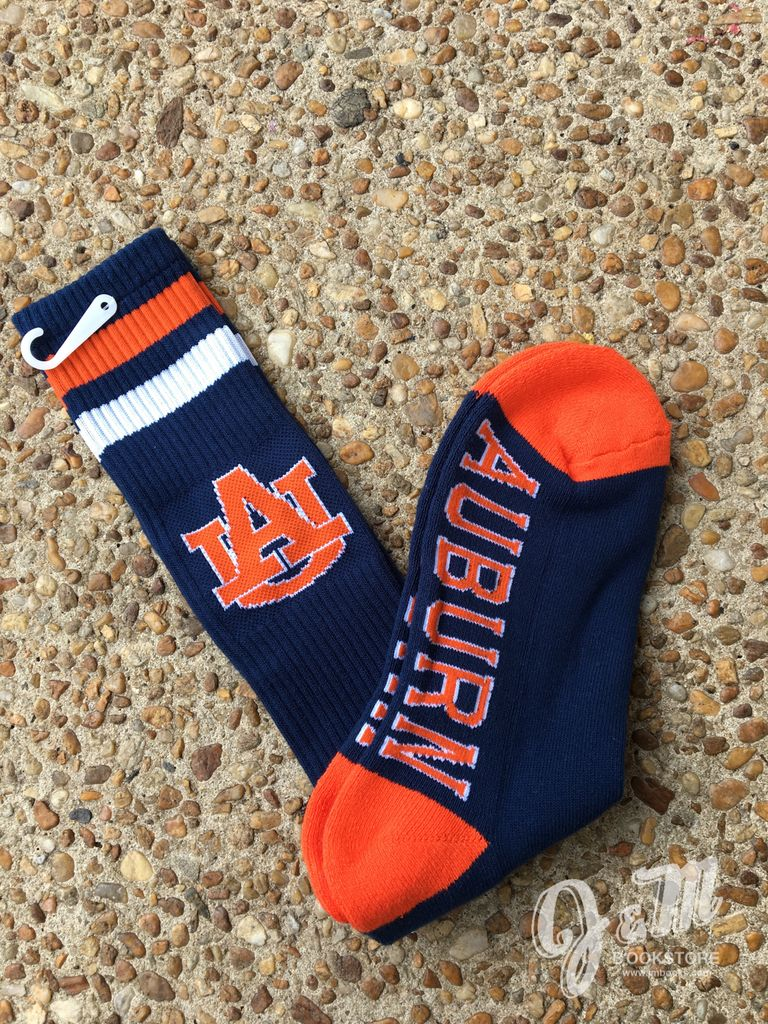 Donegal Bay AU Auburn Tigers Navy Tube Sock