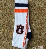 Donegal Bay AU White Tube Sock with Orange and Navy Trim