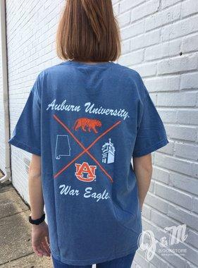 MV Sport Script Auburn University Four Pattern T-Shirt