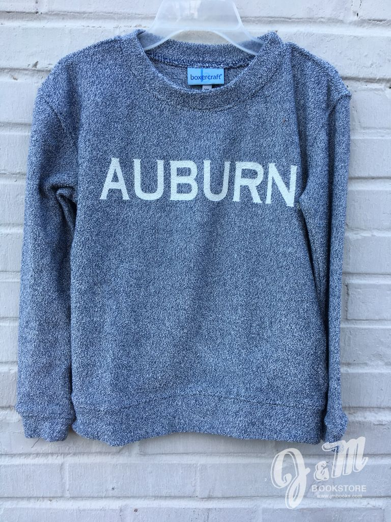 Auburn Denim Youth Cozy Crew