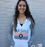 War Eagle V-Neck Ladies Two Tone Hoodie
