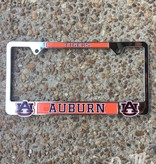 AU Auburn Tigers Chrome Metal Tag Frame