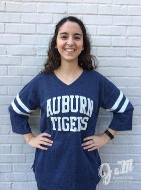 MV Sport Auburn Tigers Embroidered Oversized T-Shirt
