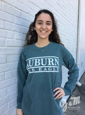 MV Sport Auburn War Eagle Three Bar Long Sleeve T-Shirt