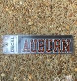 Block Auburn Tiger Stripe Decal