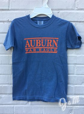 MV Sport Auburn War Eagle Three Bar Youth T-Shirt