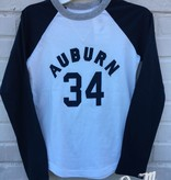 League Arch Auburn 34 Two Tone Youth Baseball T-Shirt