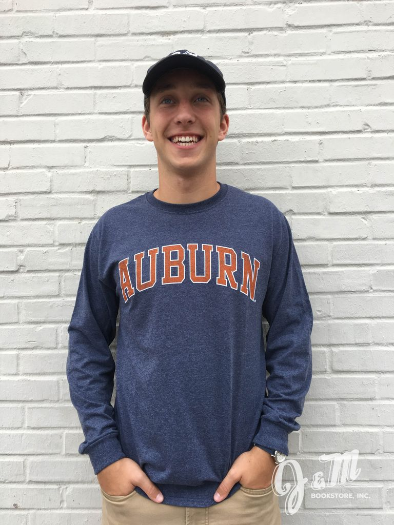 MV Sport Arch Auburn Vintage Screenprint Long Sleeve T-Shirt