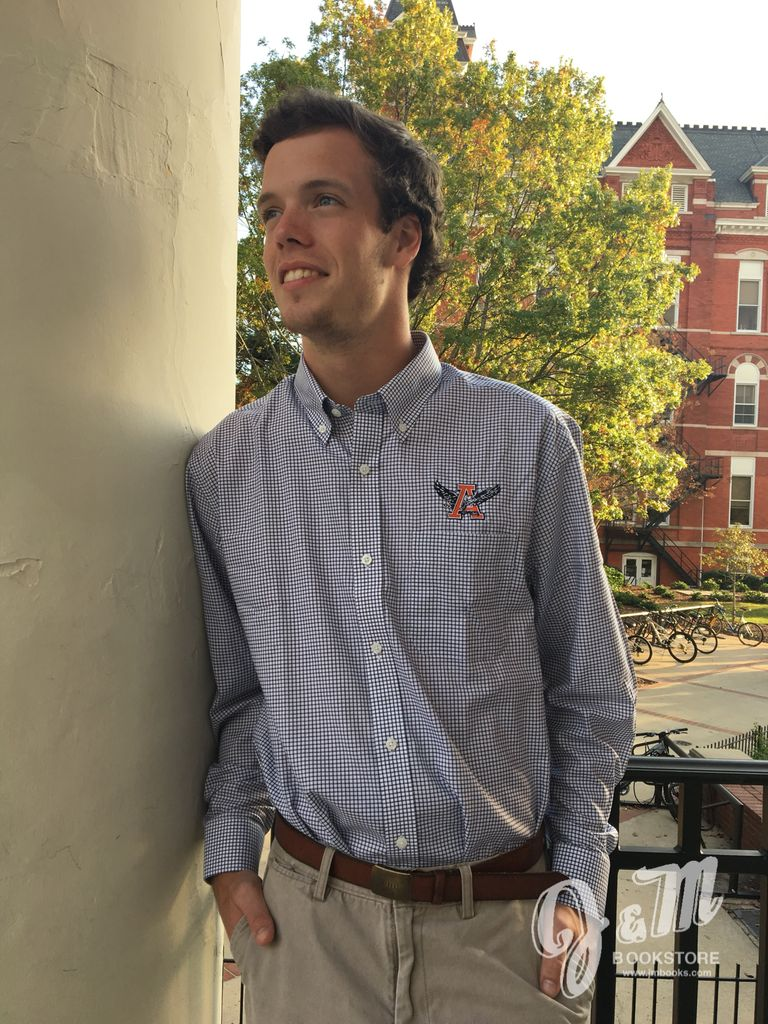 Cutter & Buck Eagle Thru A Epic Easy Care Tattersall Button Down