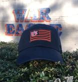 Navy and Orange Flag Hat